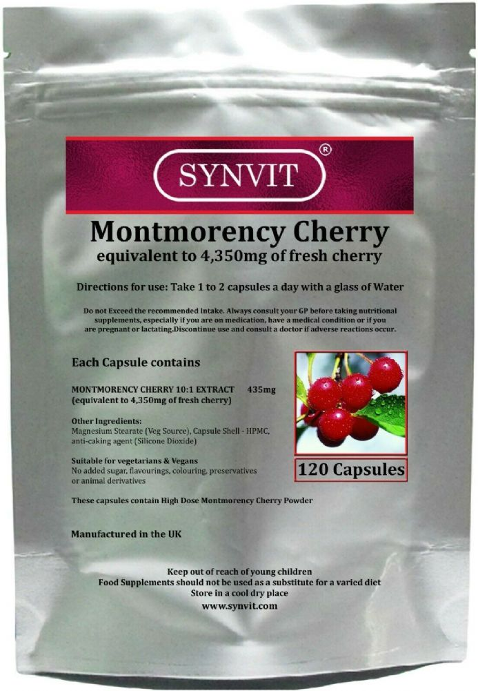 Montmorency Cherry 4,350mg eq. x 120/360 Capsules; Synvit